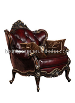 Luxury French Baroque Style Red Leather Tufted Single Sofa,Noble French  Style Living Room Furniture Bf11-10302g - Buy Baroque Sofa,Leather Tufted  ...