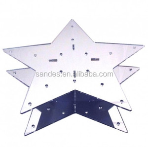 Exqusited Star Shaped Acrylic Lollipop Display Stands Perspex Cake Pop Display Holders