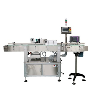 SKILT Factory price Automatic round bottle labeling sticking machine wrap around with printer