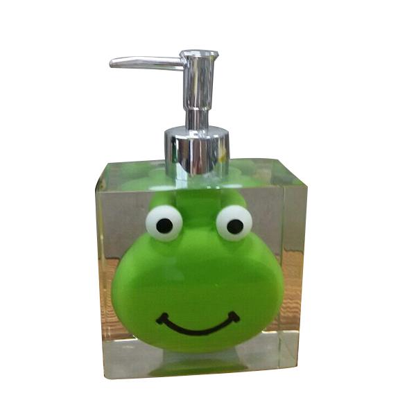 product detail promotional gift transparent resin frog decoration novelty soap dispenser