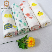 100% Organic cotton Muslin Baby Swaddle Blanket CPC Certification Custom organic muslin swaddle 100% bamboo fabric blanket , mus