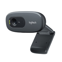 Logitech Webcam C270 wholesale android tv box free driver laptop camera 720P Logitech Webcam for computer