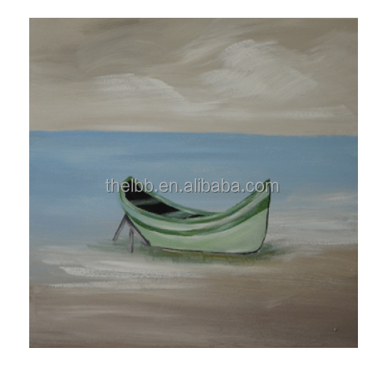 A Boat Is Standing Alone On The Beach Oil Painting <strong>Art</strong>