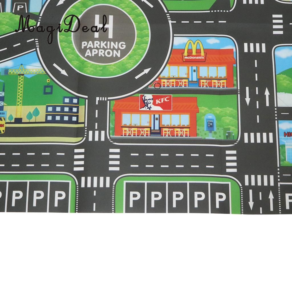 City Traffic Road Carpet Playmat Rug For Cars & Train Game Toys Baby Children Educational Play Mat For Bedroom Play Room Game #B
