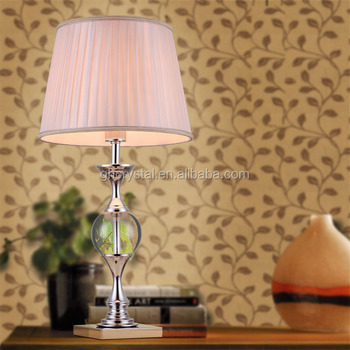 Pretty Pink European Style Crystal Bedside Table Lamp