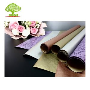 100% Recycled 40 / 50 / 70 Brown Gsm Kraft Paper Roll For Gift Wrapping And Flower Clutch Bag