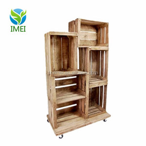 YM0J35 Fruit Crate Display Unit with 6 Crates