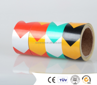 Rubber Adhesive and Waterproof Feature marking warning tape with PVC material