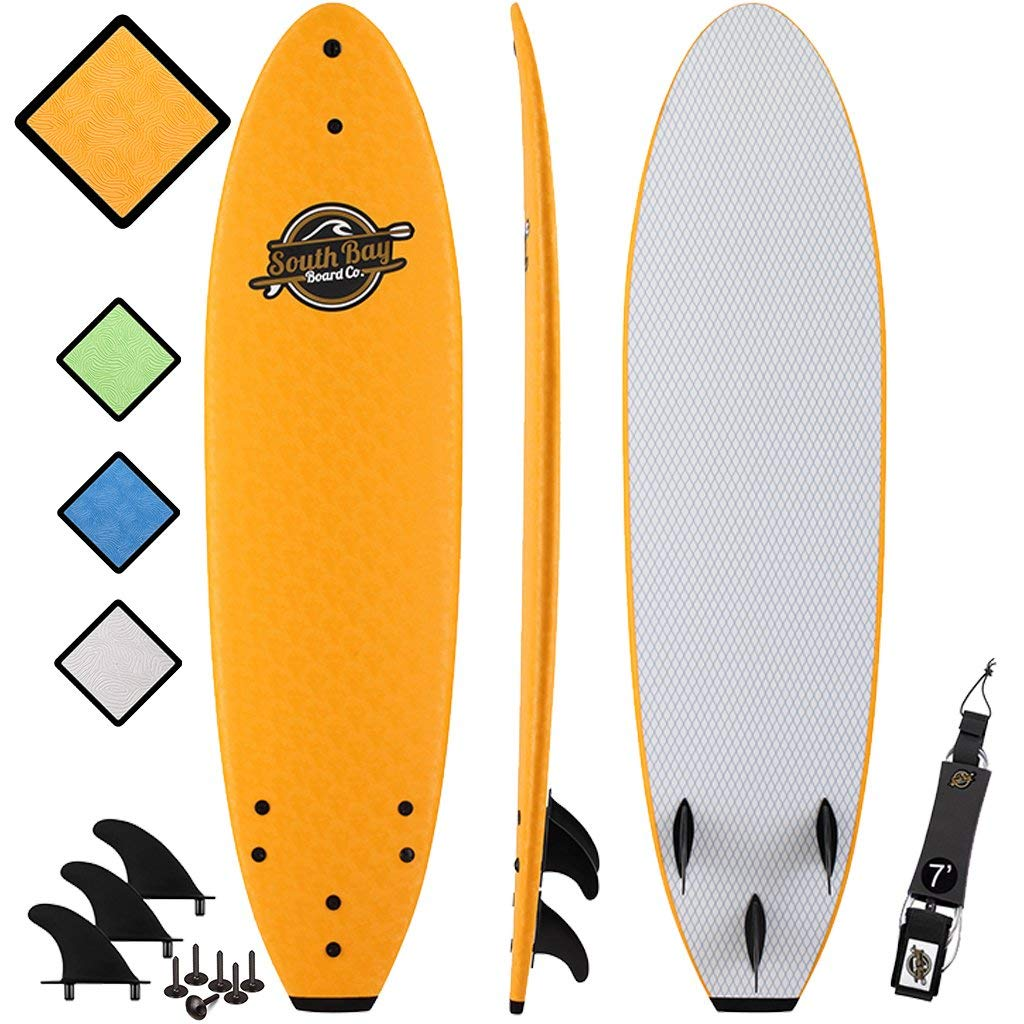 SBBC - 7' Soft Top Surfboard -    7ft Ruccus    - Fun Performance Foam Surfboards   Great Surf Boards For All Surfing Skill Levels