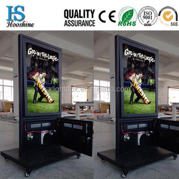 Newest Free Standing Movied Outdoor Led Light Box Outdoor Light ...