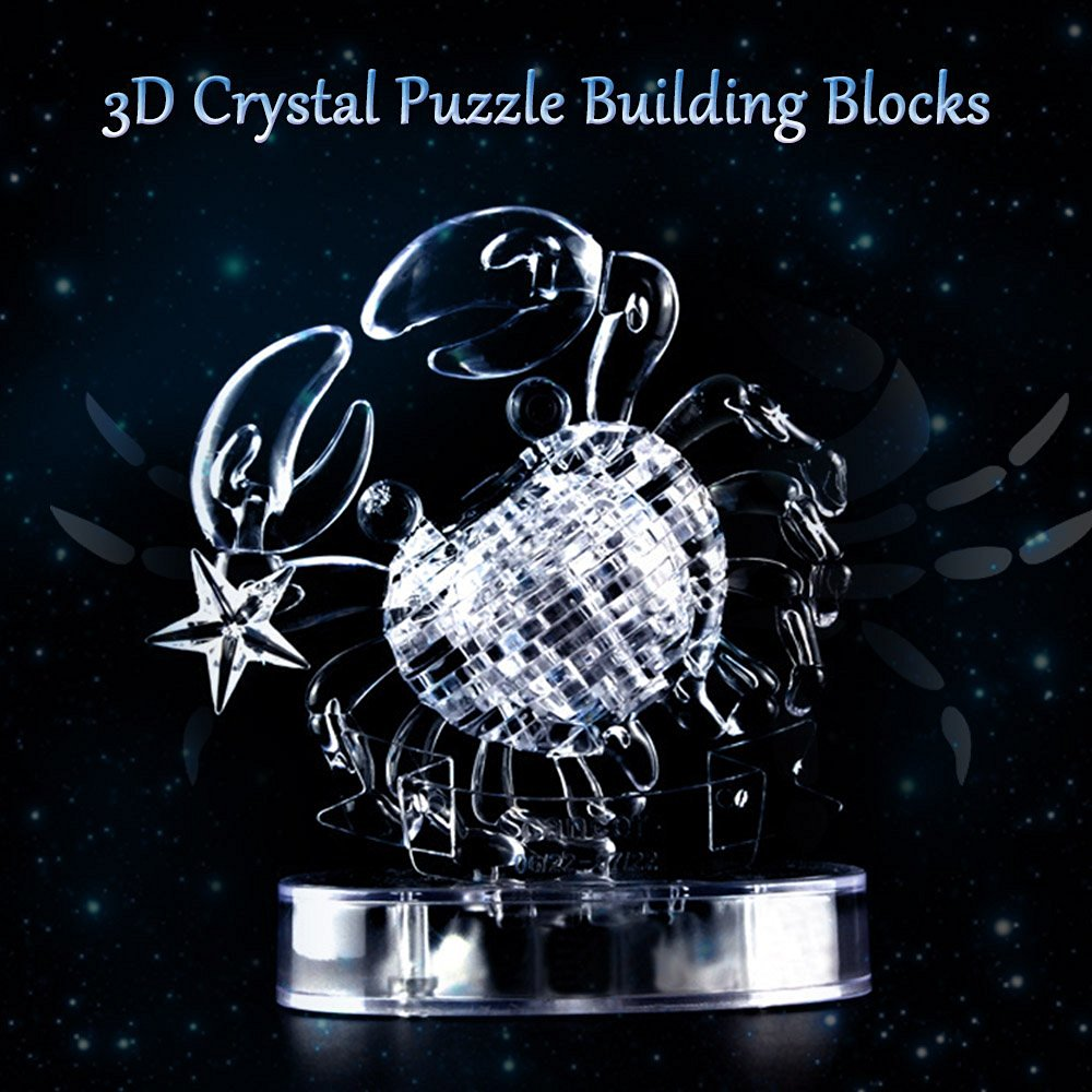 Goolsky Coolplay 3D Crystal Blocks Assembly Puzzle Translucent DIY Puzzle Building Blocks Kid's Toy Lovely Gift for Children Adult Special Birthday Present Christmas Gift