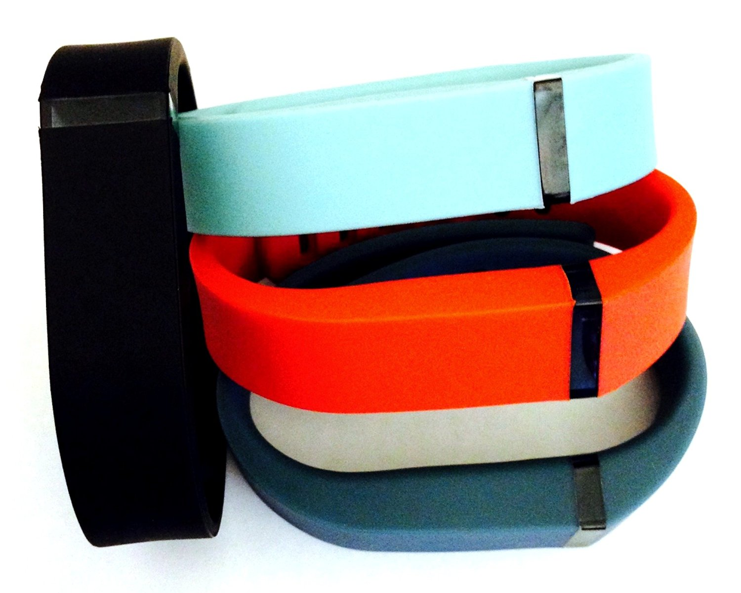 ! Small S 1pc Teal (Blue/Grey) 1pc Black 1pc Red (Tangerine) 1pc Slate (Blue/Grey) Replacement Bands + 1pc Free Small Grey Band With Clasp for Fitbit FLEX Only /No tracker/ Wireless Activity Bracelet Sport Wristband Fit Bit Flex Bracelet Sport Arm Band Armband