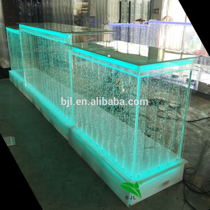 luxury modern customized led glow furniture long reception desk used luminous led bar counter for sale