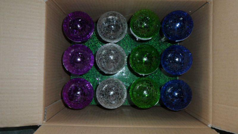 Delightful Glass Ball Stake Solar Light,multi Colored Solar Garden Lights High Quality Multi  Colored Solar