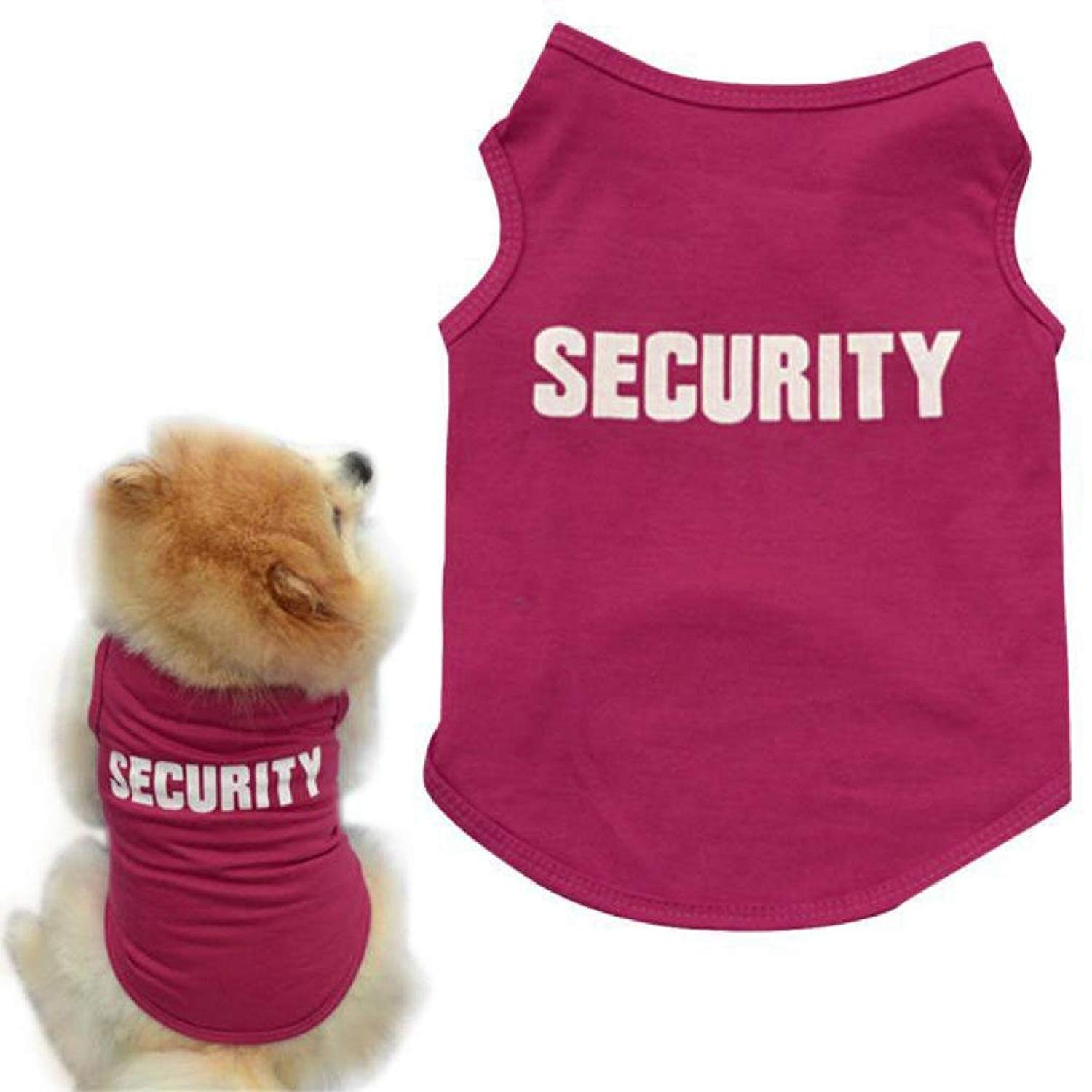 Howstar Pet Clothes, Fashion Puppy Vest Security Print Dog Shirt for Small Dogs Apparel (M, Red)