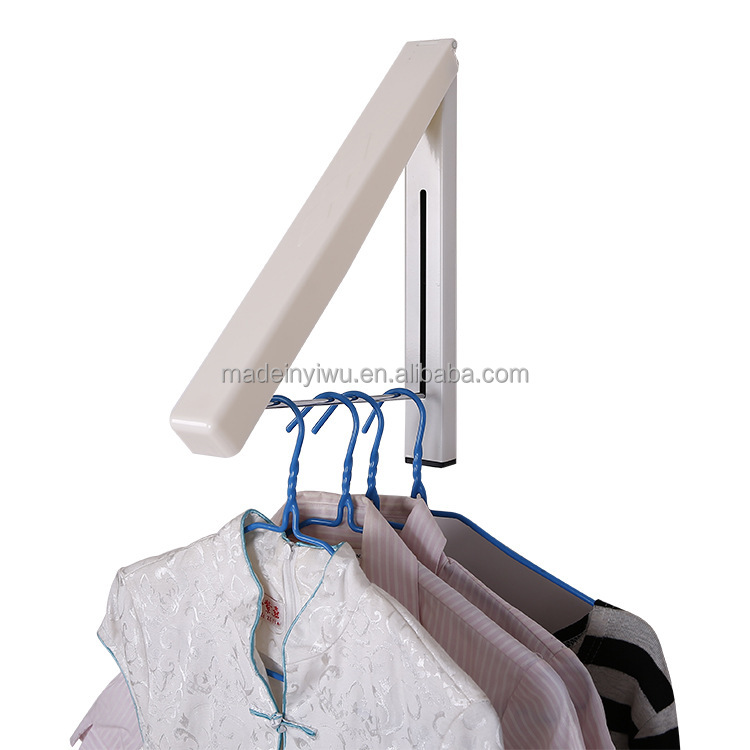 Adjustable Hidden Wall Mounted Folding Clothes Hanger Drying Rack