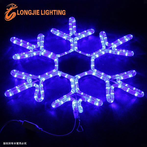 Led Snowflake Lights Flashing Color Changing Rope Light Christmas ...
