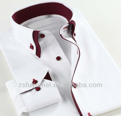 Two-tone collar shirt for men