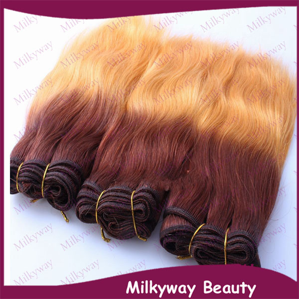 Milkyway grade 5a straight two tone brown to blond 100 human milkyway grade 5a straight two tone brown to blond 100 human virgin brazilian hair weave pmusecretfo Gallery