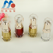 Hengsheng factory wholesale plastic customize 15ml cosmetic diamond essential oil drop bottle