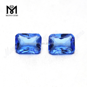 Octagon 6 X 8 MM Hydro Quartz Blue Topaz loose gemstone