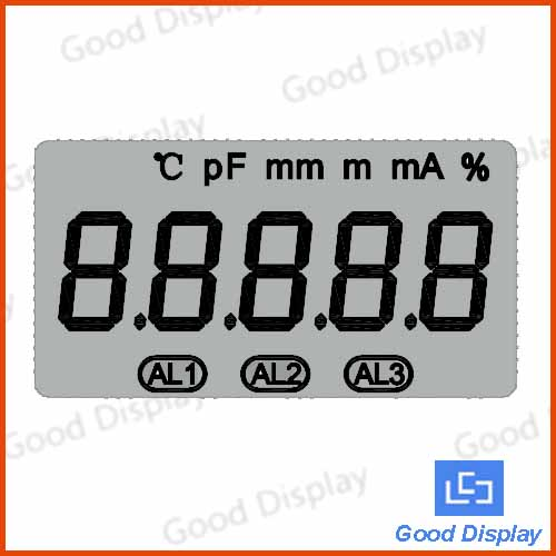 Wide Temperature Custom Made TN 5 digits LCD