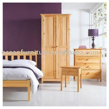 pine solid wood bedroom furniture sets