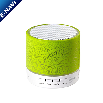 Wireless Speakers Outdoor Portable Mini Speaker With LED Lights Support TF/FM Pocket Size Speaker