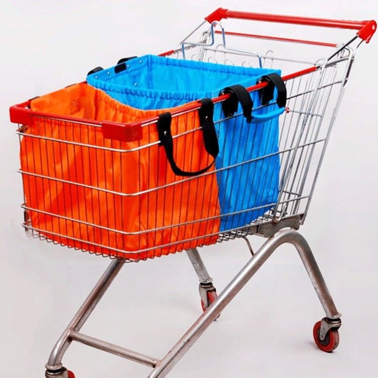 Folding Nylon Shopping Cart Bag,Bulk Reusable Shopping Bags ...