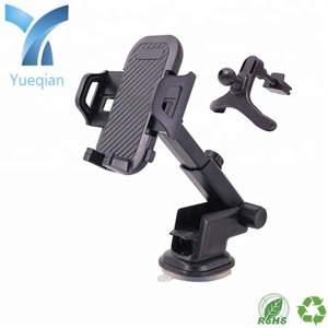 New clamping extension rod TPU adhesive suction cup/tripod outlet 2 in 1 / car phone holder/factory manufacturer