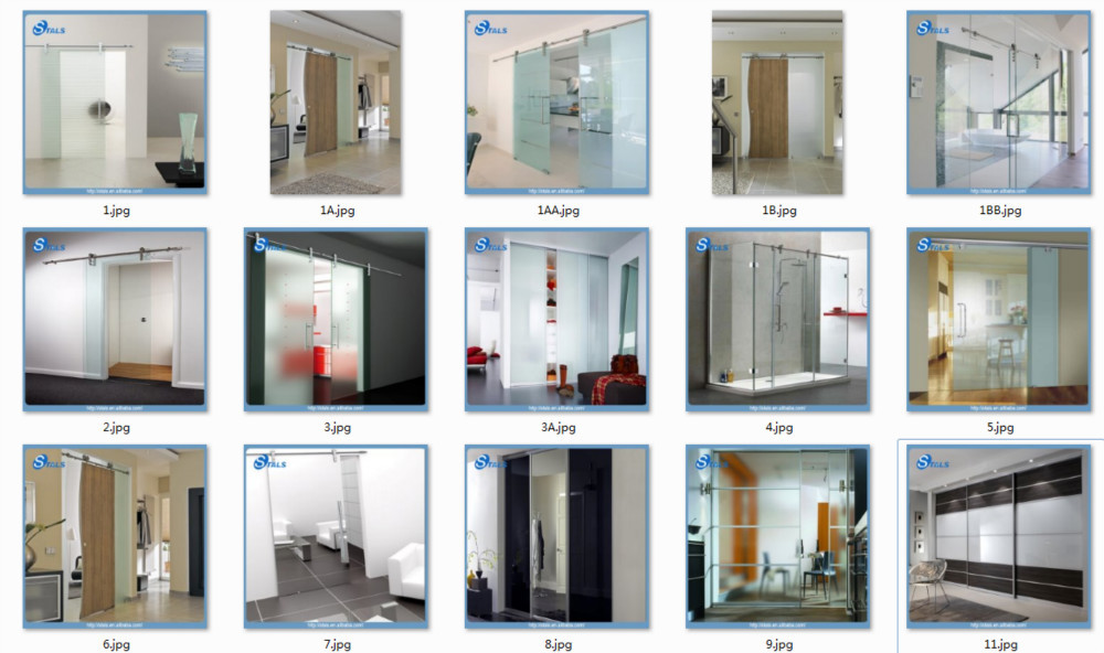 Double glass type aluminium sliding doors sandblasting for Types of front door glass