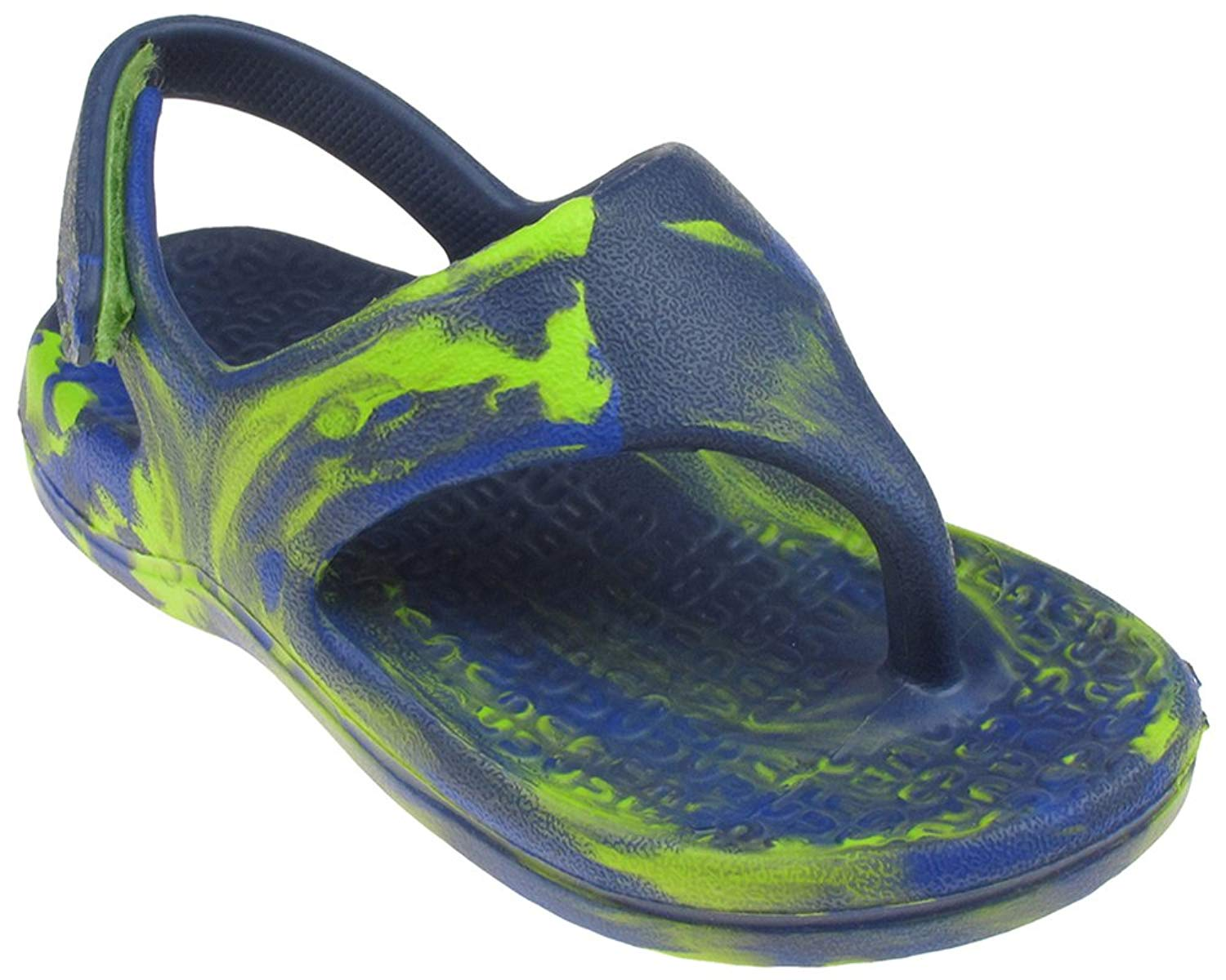 Capelli New York Tie Dye Toddler Boys Clog Sandal Thong With Back Strap