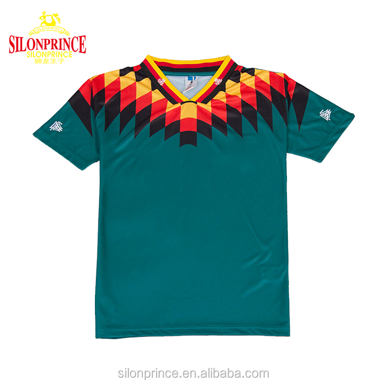 1994 Germany souvenir retro soccer shirts wholesale plain custom men soccer jersey