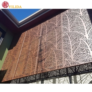 Best price decorative perforated screen laser cut metal facade curtain wall cladding