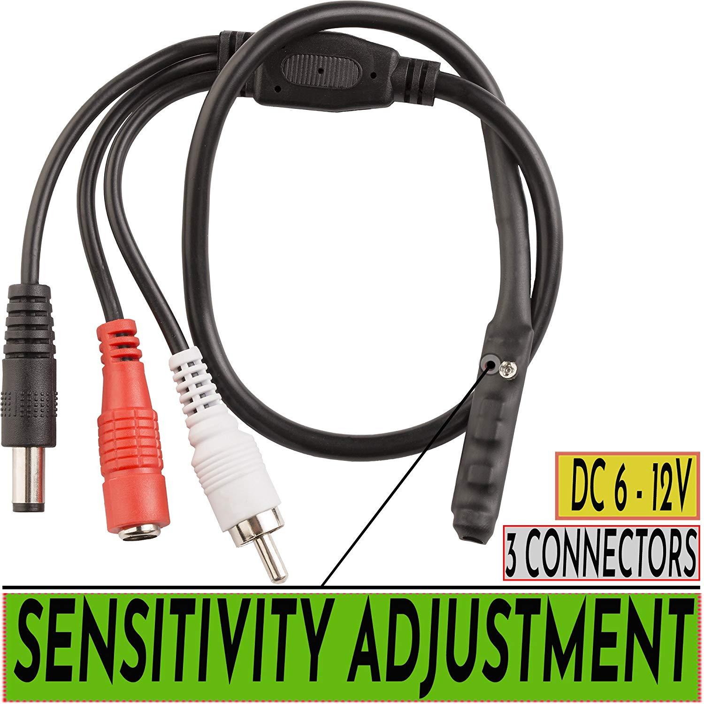 Loocam High Sensitive CCTV Microphone DVR Microphone CCTV Camera Mic