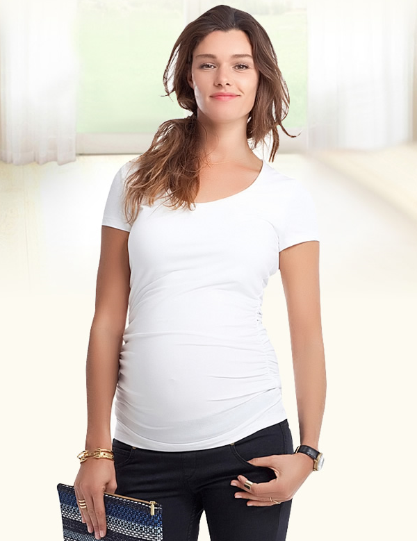 Wholesale Blank Maternity T Shirts High Quality Ladies 95 Cotton 5 Spandex T Shirts