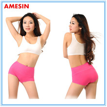 100% white organic cotton underwear women underwear