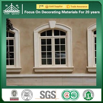 House Exterior Design Grc Concrete Decorative Outside Window Borders - Window-exterior-design