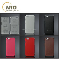 Genuine leather flip Phone case For iphone 6 with empaistic words inside