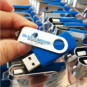 image regarding Printable Usb Drive titled oem printable usb memory adhere 2gb 4gb 8gb customized usb enthusiasm blue swivel