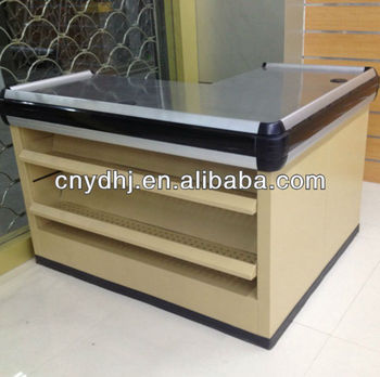 High Quality With Stainless Steel Surface Cash Counter Table For Shopping  Mall From Suzhou Factory YD