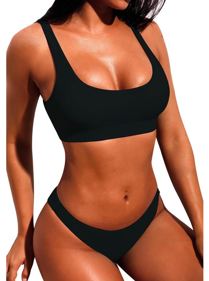 High leg cut swimwear sexy bikini