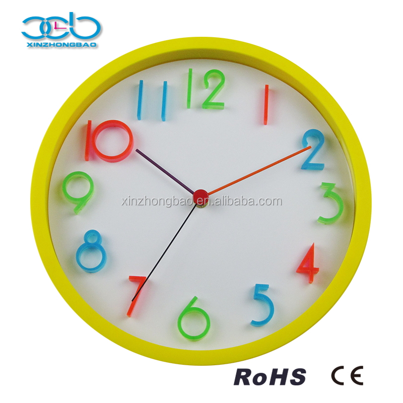 Child Living Room Color Digital Wall Clock