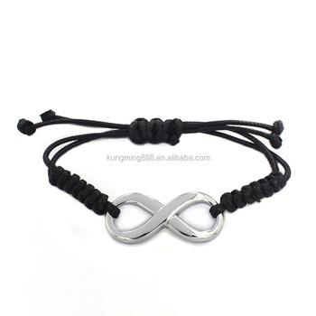 Manufacturer 17cm Vacuum Plating Adjule Weave Leather Friendship Bracelet