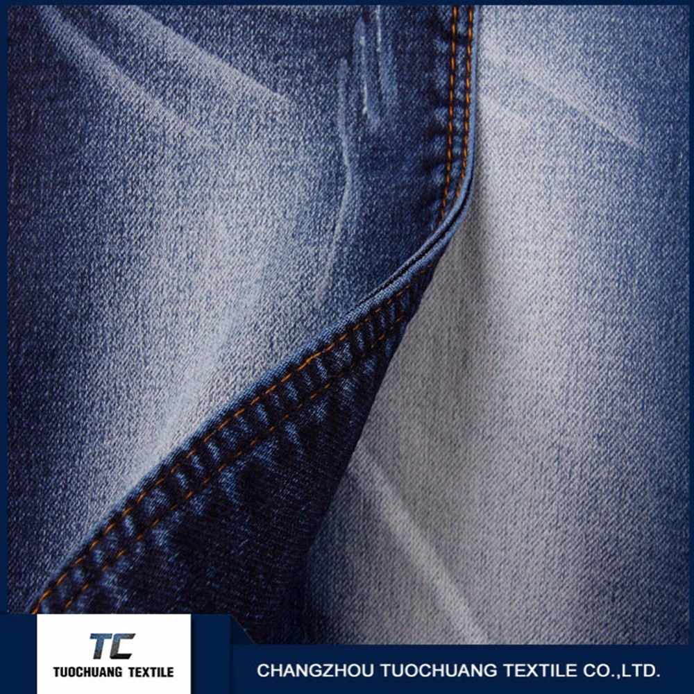 TC 00015 dark blue denim jeans fabric for Men fashinable design exported denim jeans fabric in changzhou