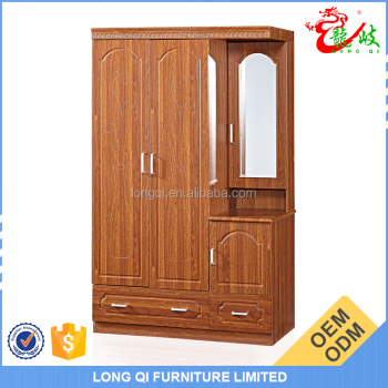 New Arrival Bedroom Mdf Wardrobe Design Wood Clothes Cabinet Mirror Closet Fc303