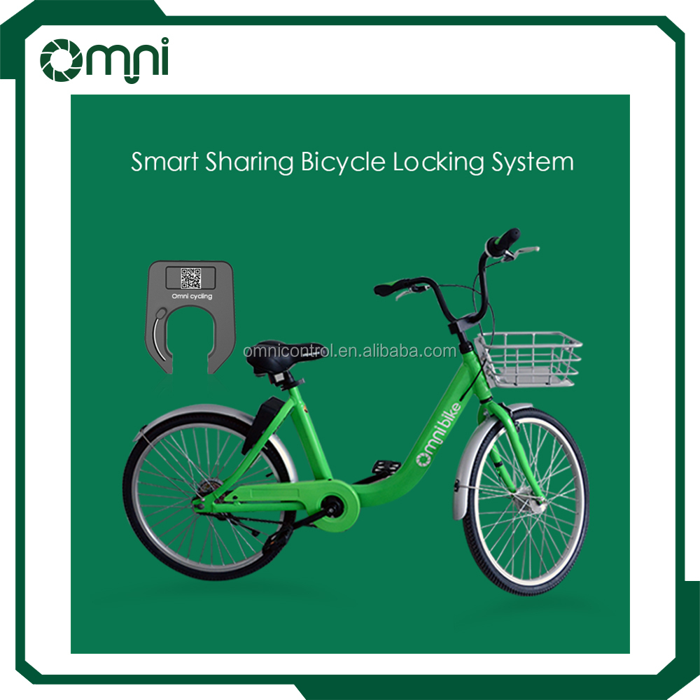 City Bicycles Sharing System Smart Bike Lock User Download App and Scan the QR code Unlock