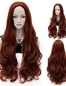 Wigs have an attractive convenience fashion Fashion Natural Wave Lady Wigs Hair Red-brown Synthetic Hair Wigs