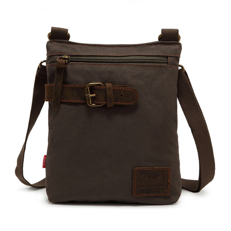2015 New famous brand designer fashion small canvas bag casual brown men messenger bags vintage men shoulder bags travel bolsos