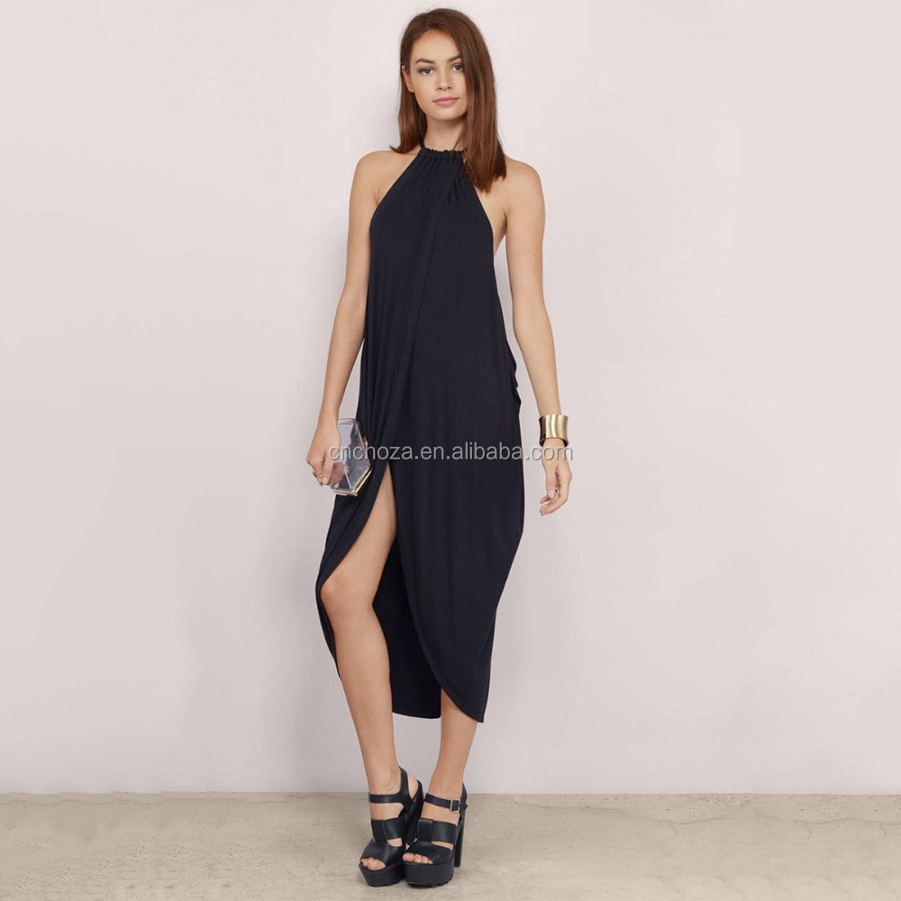 Z50889D Fashion women hang neck summer dress